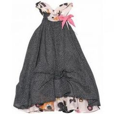 2015 Spring/Summer Miss Butterfly Sundress by #deuxpardeux.   A charming mix of polka dot and floral for spring.  #3littlemonkeys
