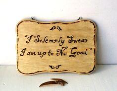 Wood burned sign (customized).