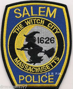 Salem, MA PD Patch Police Cars, Police Officer, Police Badges, Law Enforcement Badges, Law Enforcement Officer, Fire Badge, Occult Science, The Afflicted, Local Police