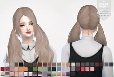 Silent Night – Stealthic BabyDoll Hairstyle recolor for The Sims 4 The Sims 2, Sims 4 Cas, Sims Cc, Sims 4 Hair Male, Sims Hair, Sims 4 Anime, The Sims 4 Cabelos, Pelo Sims, Sims 4 Cc Makeup