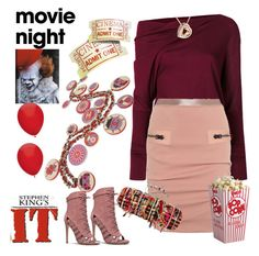 """Movie date"" by ellenfischerbeauty ❤ liked on Polyvore featuring Tom Ford, Chanel, Alexander McQueen, it, movies, movieNight, TOMFORD and StephenKing"