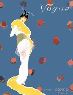 Vogue US Cover - November 1913 - Illustration by Helen Dryden (American, 1887-1981) - Condé Nast Publications - @~ Mlle