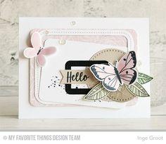 Vandaag weer voorbeelden van de Card Kit van Februari van My Favorite Things Stamps . Elke maand verschijnt er een nieuwe Card Kit, Deze...