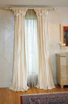 Single window curtains