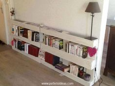 pallet wall bookshelf