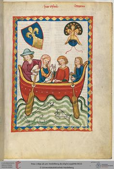 Cod. Pal. germ. 848: Große Heidelberger Liederhandschrift (Codex Manesse) (Zürich, ca. 1300 bis ca. 1340), Fol 319r