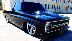 blacked out 1985 chevrolet c10 custom truck