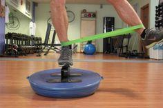 Propriocezione avanzata controlaterale su BOSU con rinforzo di adduttori e muscoli extrarotatori dell'anca post distorsione di caviglia
