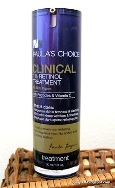 Review of Paula's Choice Clinical 1% Retinol Treatment: good for shrinking clogged pores!