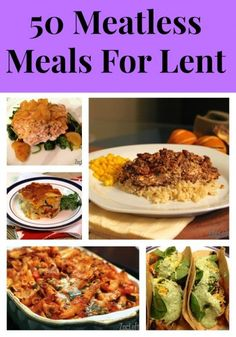 50 Meatless Meals For Lent from ZagLeft.  Love this collection of recipes!