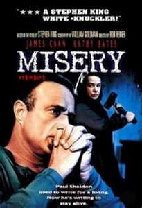 Misery (1990). This movie is so good. Kathy Bates plays James Caan's biggest fan! Based on Stephen King novel.