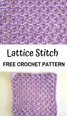 Learn this easy and beautiful crochet lace stitch: the Lattice stitch! Basis How to Crochet the Lattice Stitch—Free Crochet pattern Beau Crochet, Stitch Crochet, Tunisian Crochet, Single Crochet, Crochet Hooks, Free Crochet, Crochet Blankets, Crochet Afghans, Double Crochet