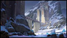 Haïr Rigai, the white fortress, home of the Tirin Kor Mage Order. Hidden somewhere in the mountains.