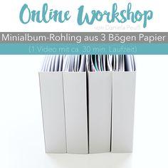 "Online Workshop ""Minialbum-Rohling mit Dani"" aus 3 Bögen Scrapbooking Papier bei www.danipeuss.de"