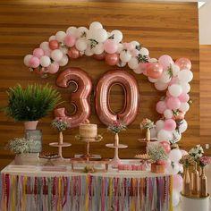 Worldwide Delivery by EVALonlinePartyShop 30th Party, 30th Birthday Parties, Birthday Party Themes, Diy Birthday, Ideas Decoracion Cumpleaños, 30th Birthday Ideas For Women, 30th Birthday Decorations, Birthday Woman, Deco Table