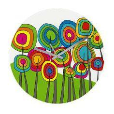 Funky Trees 10 Colorful Wall Clock > Funky Art III > Gail Gabel http://www.cafepress.com/gailgabel.1245725310