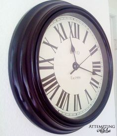 """Personalized PDF for 9"""" clock face - Union Station. $3.00, via Etsy."""