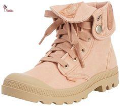 Palladium Baggy, Bottes Desert Femme - Rose (Salmon Pink/Putty 670), 37 EU - Chaussures palladium (*Partner-Link)