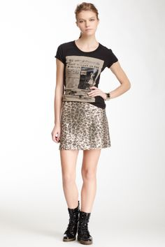 LOVE Moschino LOVE Moschino Sequin A-Line Mini Skirt   Nordstrom Rack