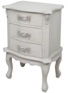 Antique white louis bedside chest home kandi 135 home kandi mocha 3 drawer antique french bedside chest watchthetrailerfo