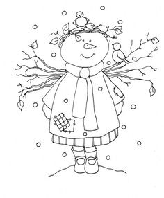 Snow girl -  눈사람도안1
