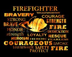 firefighter sayngs | Firefighter Words quote art at Patience-Quotes.com