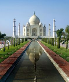 Taj Mahal.  No photo can do it justice.  Most beautiful building I have ever seen.  Until you go you don't know that the Maharajah  built a huge gate through which you enter the grounds to see it.  It is a breathtaking reveal.  Even the reveal of the Treasury at Petra pales in comparison.