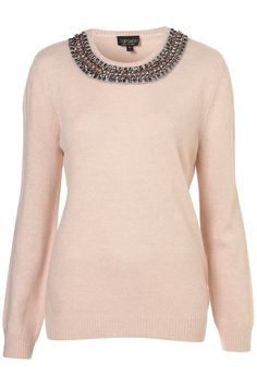 Knitted Necklace Jumper - Knitwear - Clothing - Topshop