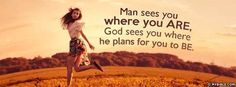 God sees you where He plans - Facebook Cover Photo