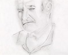 Eseguito da Violetta un ritratto Robin Williams. Ed alcune delle sue più belle frasi tratte dai suoi film.
