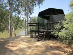 Briljante idee langs die Vaalrivier South Africa, Gazebo, Scenery, Outdoor Structures, Camping, Outdoor Decor, Southern, Boards, Paisajes