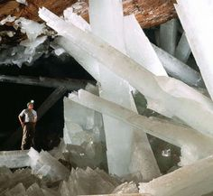 The Giant Crystal Cave in Naica, Chihuahua, Mexico