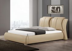 BRIANZA BED - This bed possesses a certain regal elegance unlike any other; Colors available: Black, Brown, Taupe;  Inner Dimensions:L 231.47xW220.98xH96.52 cm; PRICE: Rs 57,900/-; Buy now: http://tfrhome.com/landing/productlandingpage.php?product_code=bd-03