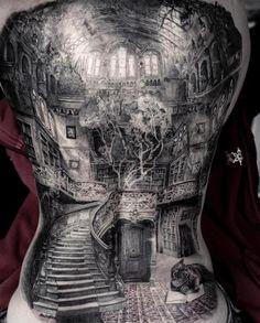 ⠀⠀⠀⠀⠀⠀Full back tattoo