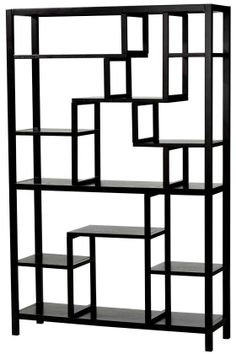 "Parsons Display Shelf - Solid Birch Black | HomeDecorators.com | 62""Hx40""Wx12""D 