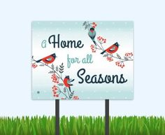 Send a warm winter message to your prospects with these bandit signs…