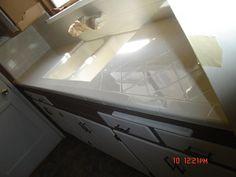 PKB Reglazing : Tile Bathroom Countertop Reglazed White