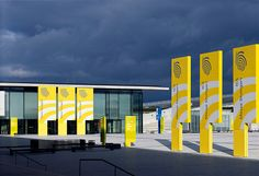 messe stuttgart - trade fair and exhibition centre signage by buro uebele