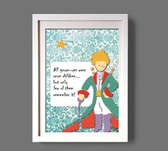 LITTLE PRINCE Le petit princedigital print art poster by COLOR4FUN, $15.00