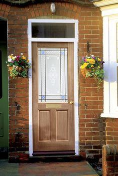XL - External Hardwood Dowelled Single Glazed with Carroll Glass - External Doors External Hardwood Doors, External Doors, Oak Front Door, Wooden Front Doors, Types Of Doors, Glass Panels, Cottage, Building, Outdoor Decor