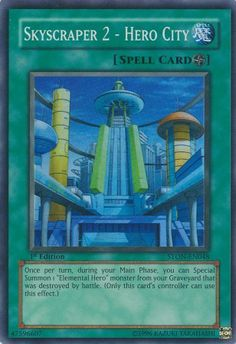 Skyscraper magic field card | Rare yugioh cards ...