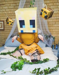 Minecraft Bee by Maddi Cosplays Save The Bees, Minecraft, Blessed, Cosplay, Children, Funny, Fictional Characters, Queen, Young Children