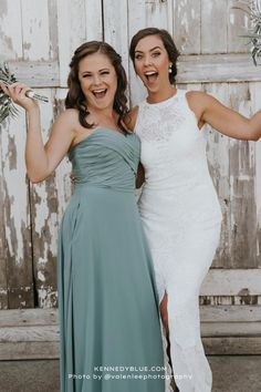 Kennedy Blue recently launched the style 'Lisa' and has since been one of our favorites from the new collection! This style is youthful yet elegant and looks stunning in the color 'Deep Sea'! Available in 50+ colors, sizes 00-32, and easy to mix & match with other styles. Find your perfect bridesmaid dresses online at Kennedy Blue! | blue wedding ideas | deep sea blue bridesmaid dress | summer wedding | elegant bridesmaid gown | strapless bridesmaid dress | new wedding trends and modern styles Flowy Bridesmaid Dresses, Affordable Bridesmaid Dresses, Beautiful Bridesmaid Dresses, Bridesmaid Dresses Online, Wedding Dresses, Blue Wedding, Elegant Wedding, Summer Wedding, Wedding Trends