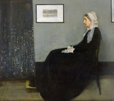 James McNeill Whistler's 1871 portrait of his mother, Arrangement in Grey and Black No. is popularly known as Whistler's Mother. The iconic American portrait can be seen at the Musée d'Orsay in Paris. James Abbott Mcneill Whistler, Most Famous Paintings, Famous Artwork, Famous Artists, Classic Paintings, Popular Paintings, Famous Brands, Whistler's Mother, Mother Art