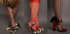 Shoes from the movie the Great Gatsby. A collaboration with costume designer Catherine Martin and Fogal hosiery for the movie. Aren't these shoes amazing?