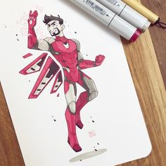 Marvel Fan Art, Marvel Comics Art, Marvel Jokes, Marvel Heroes, Avengers Drawings, Drawing Superheroes, Cool Art Drawings, Cartoon Drawings, Ironman Sketch