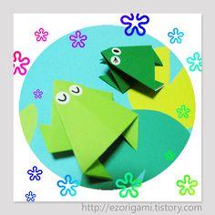 Nővér papír teljes szórakoztató kézműves :: [● ○○○○] Easy-béka origami -1