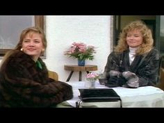 """Cathy Podewell in mink fur coat and Sheree J. Wilson in a coat trimmed chinchilla fur in """"Dallas"""" (1989 - S12 E23) (480×360)"""