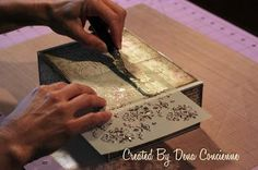 Altered Cigar Box and Quick Tutorial                                                                                                                                                                                 More