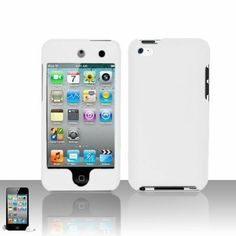 Premium Rubberized Snap-on Hard Crystal Front and Rear Case Cover for Apple iPod Touch 4G, 4th Generation, 4th Gen - white compatible with 8GB / 32GB / 64GB - http://androidizen.com/shop/premium-rubberized-snap-on-hard-crystal-front-and-rear-case-cover-for-apple-ipod-touch-4g-4th-generation-4th-gen-white-compatible-with-8gb-32gb-64gb/
